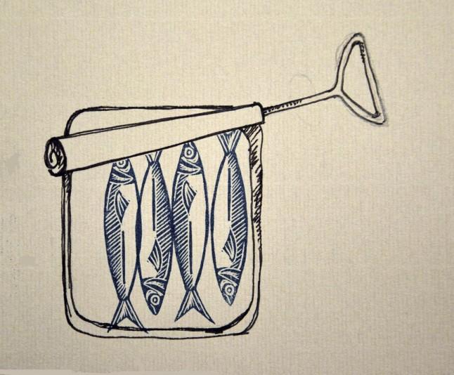 dessin boîte de sardines