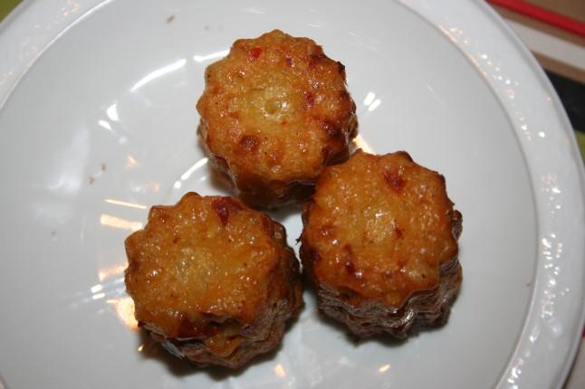cannelés semoule-chorizo-tomates séchées