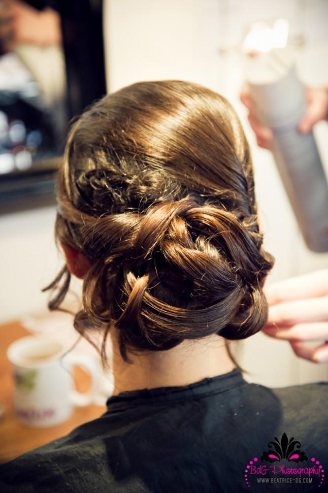 coiffure préparatifs mariée
