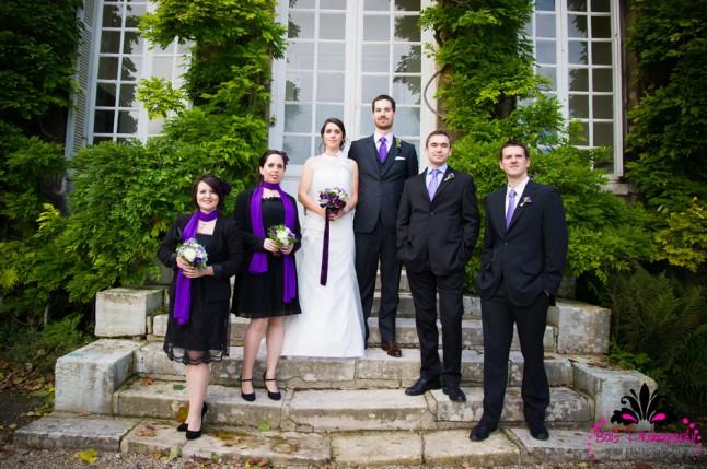 photo de groupe avec les témoins