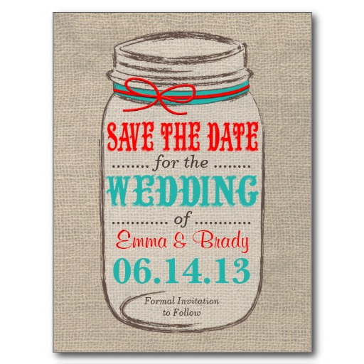 save the date toile de jute
