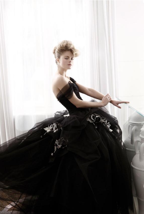 robe de marie noire Atelier Aimée