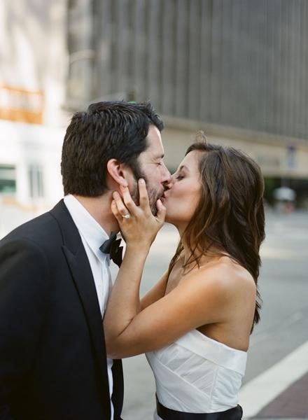 mariés bisou