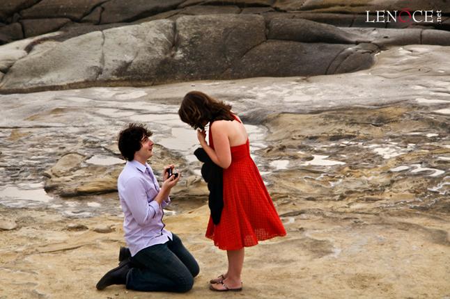 demande en mariage sur la plage