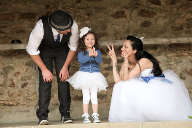 mariage thème cirque famille