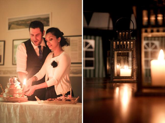 mariage thème cirque gâteau des mariés et déco lanternes