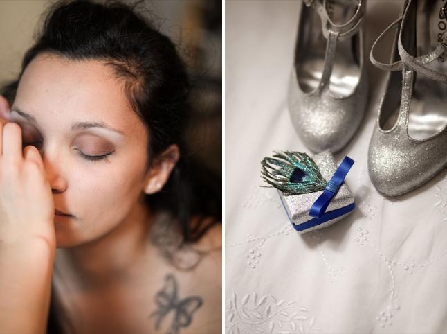 mariage thème cirque maquillage, chaussures, boîte à alliances