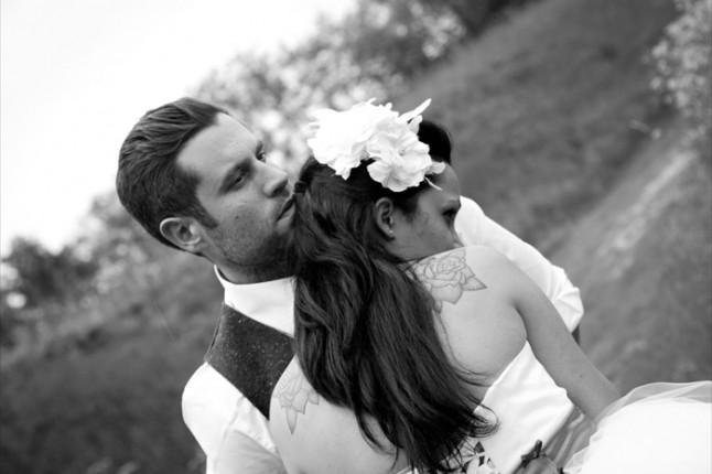 mariage thème cirque photo de couple