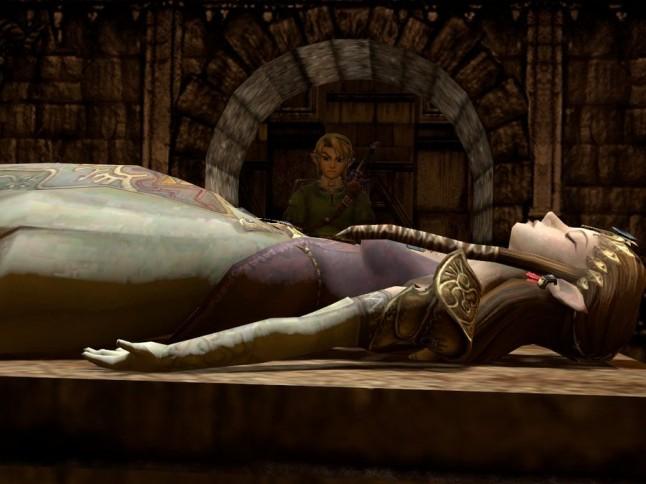 princesse Zelda endormie