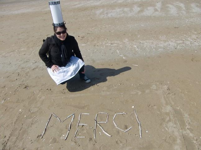 EVJF à la plage déguisement bretonne
