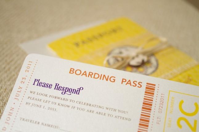 faire-part billet d'avion