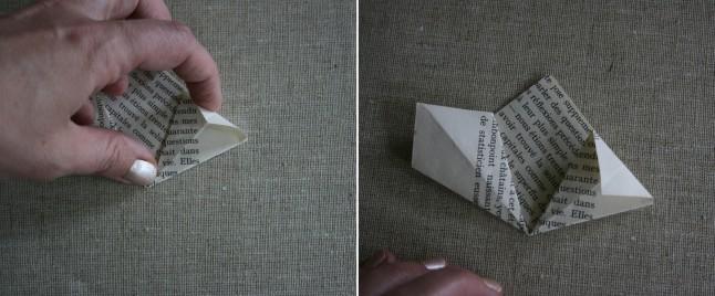 Tutoriel fleurs en papier étape E