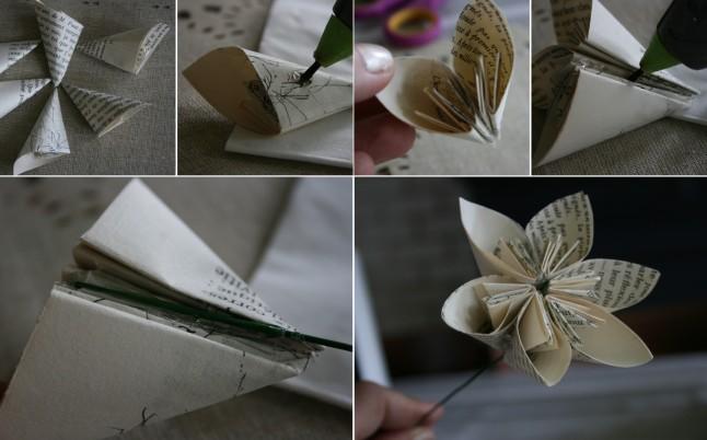 Tutoriel fleurs en papier étape G