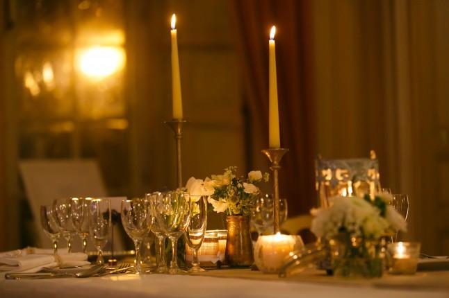 déco de table fleurs et bougies