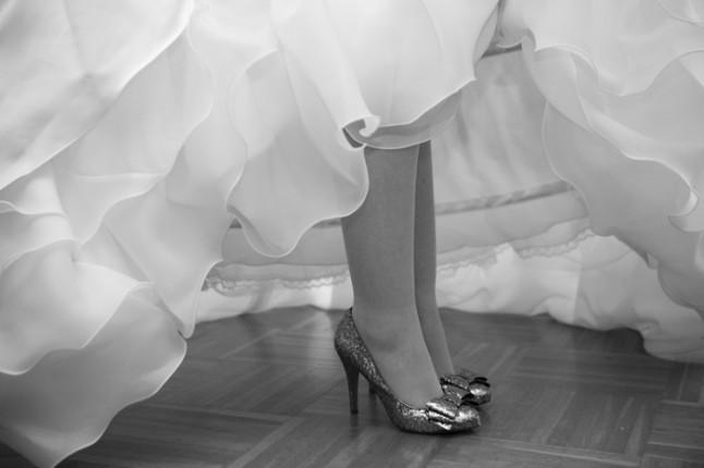mariage hiver jeux vidéos en région lyonnaise - chaussures mariée