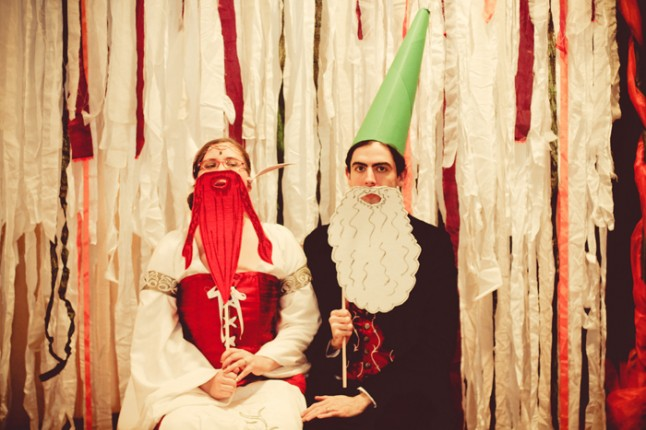 photobooth médiéval fantastique -  les mariés