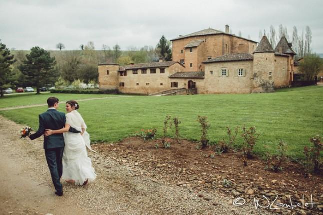 Mariage Romantique Chateau Beaujolais Mademoiselle Dentelle