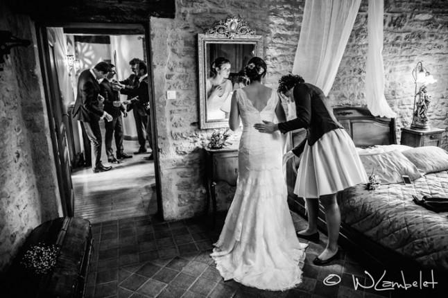 mariage Beaujolais préparatifs habillage
