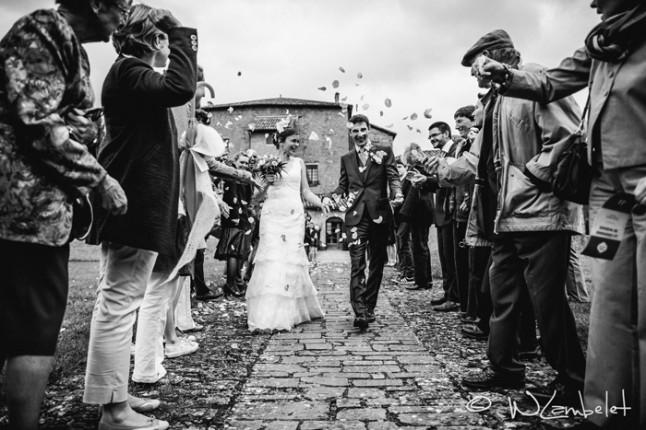 mariage Beaujolais sortie cérémonie