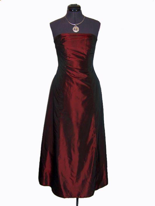 robe de soirée bordeaux
