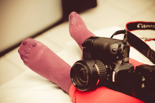 préparatifs mariage appareil photo