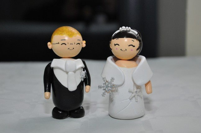 Cake topper Mme Citron