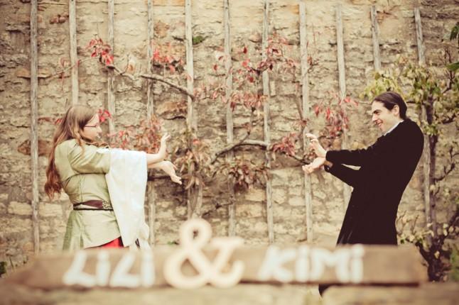 photos de couple mariage médiéval Kamé Hamé Ha