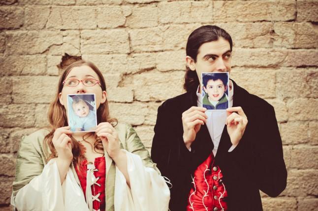 photos de couple mariage médiéval portraits d'enfance
