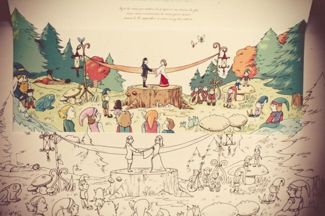 faire-part mariage médiéval fantastique