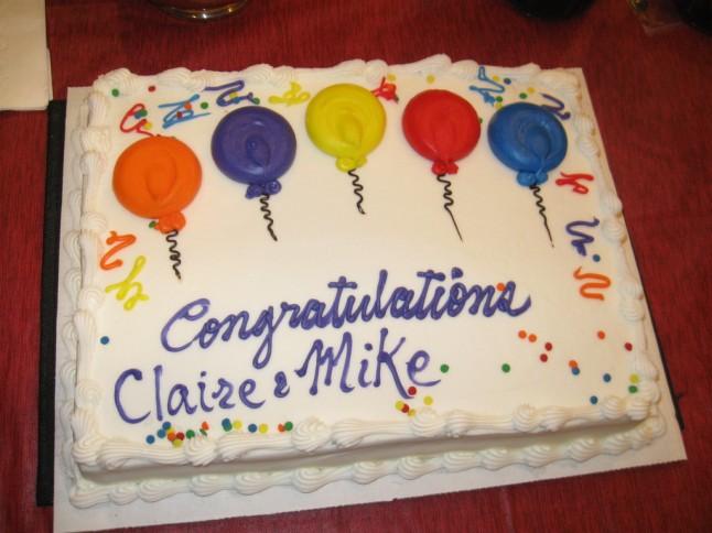 Bridal shower's cake