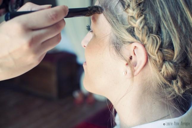 maquillage détail