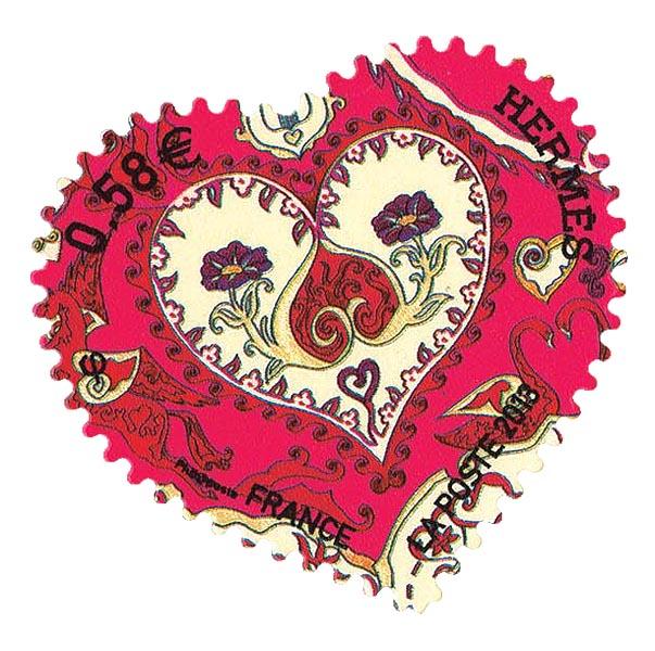 Timbres cœur Hermès