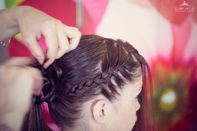préparatifs coiffure mariée mariage landais