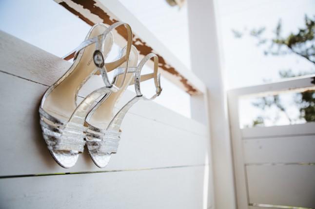 chaussures de mariée mariage au Cap Ferret