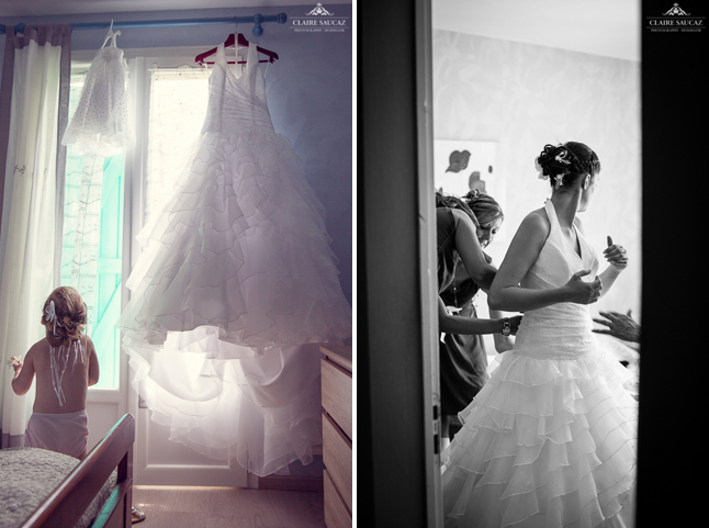 préparatifs mariée robe mariage landais