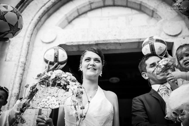 sortie d'église mariage landais