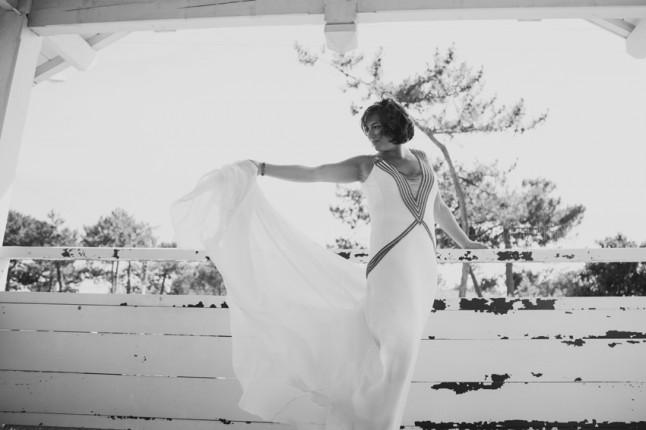 robe de mariée mariage au Cap Ferret