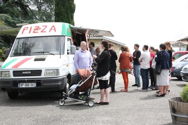 Camion-pizza de mariage