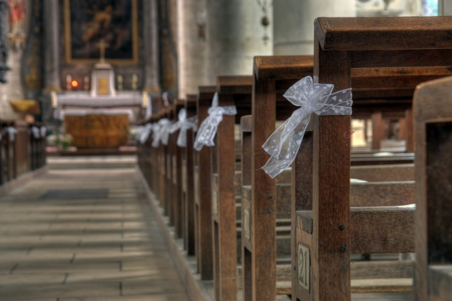 Church prepared for wedding