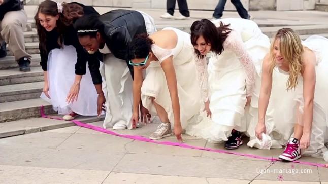 Course en robe de mariée Lyon