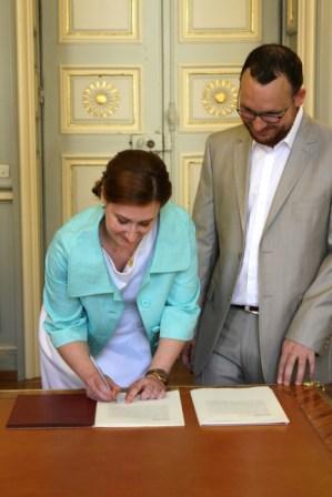 Signature de l'acte