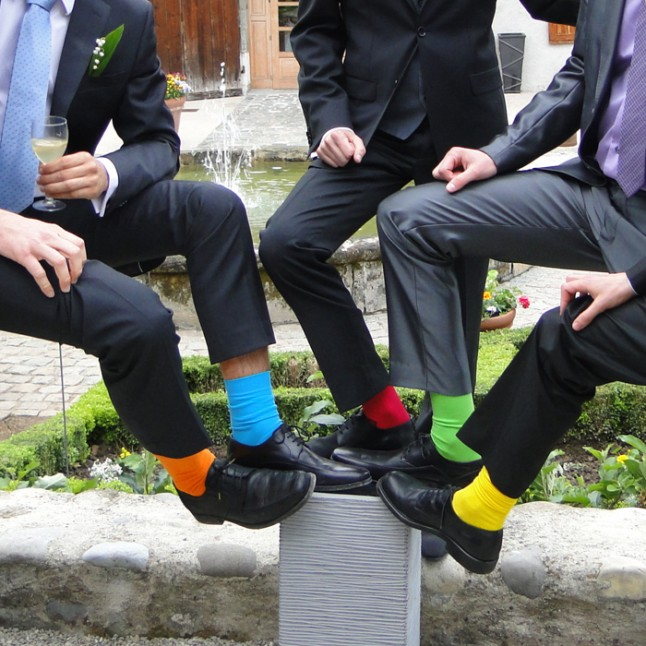 chaussettes colorées hommes