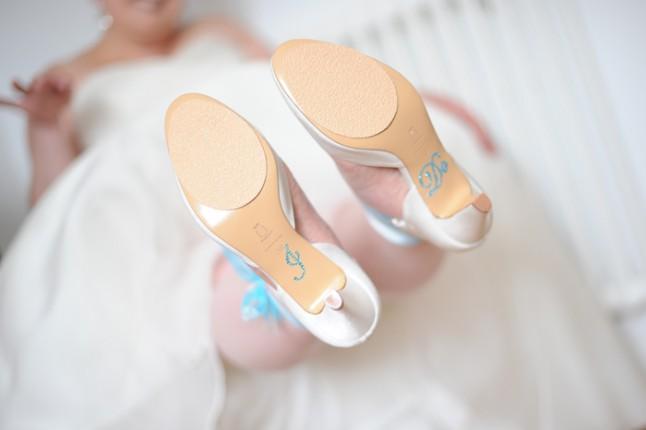 chaussures mariée I do mariage turquoise Bretagne