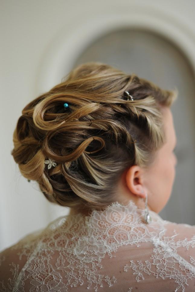 coiffure mariée mariage turquoise Bretagne