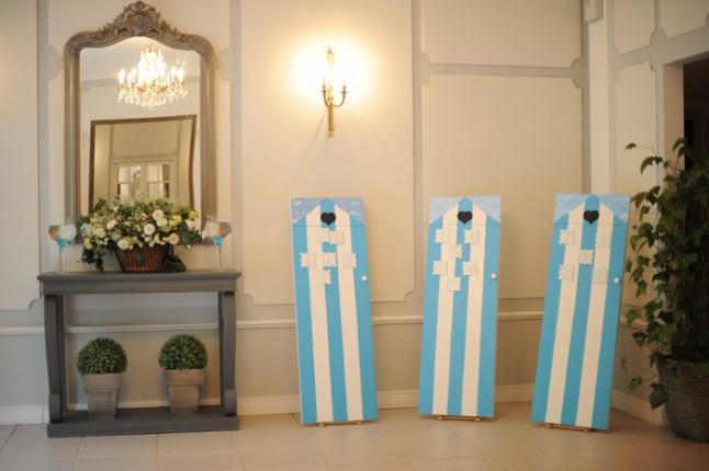 déco de salle mariage turquoise Bretagne
