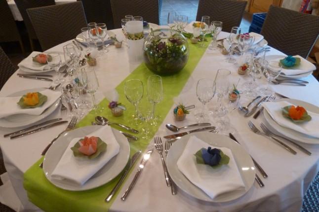 déco de table mariage nature