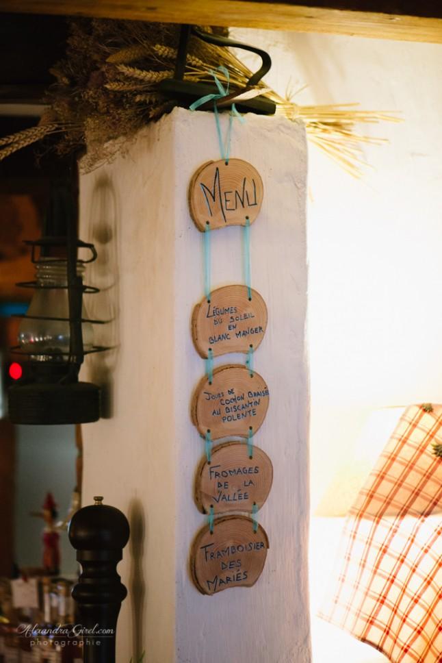 menu bois DIY