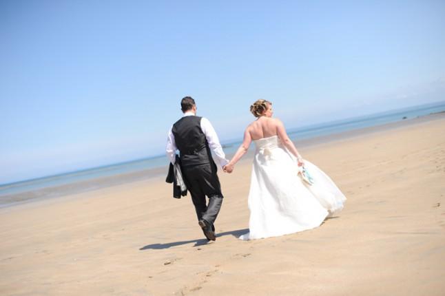 photo de couple plage mariage Bretagne
