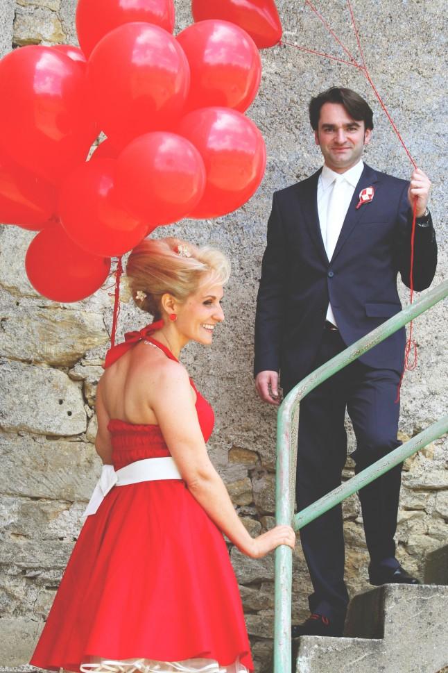 Couple ballons mariage Misstinguett