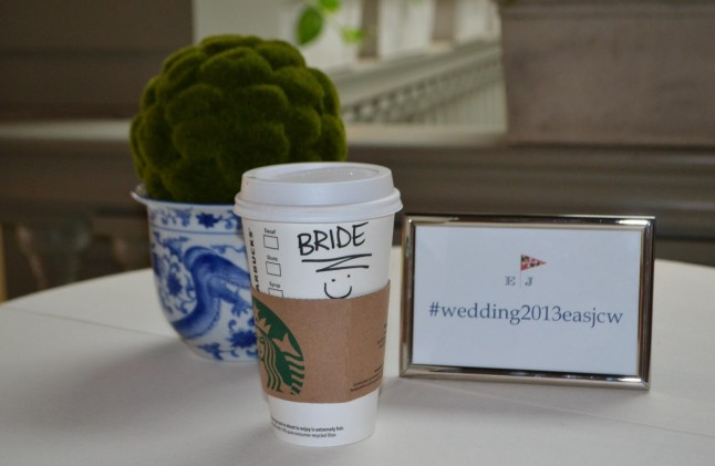 Wedding Day Coffee Starbucks